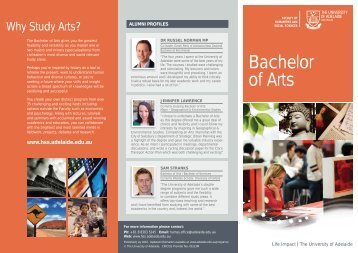 Bachelor of Arts - Faculty of Humanities & Social Sciences ...