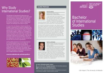 Bachelor of International Studies - Faculty of Humanities & Social ...