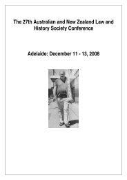 Conference program - University of Adelaide