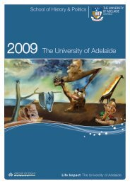 2009 The University of Adelaide - Faculty of Humanities & Social ...
