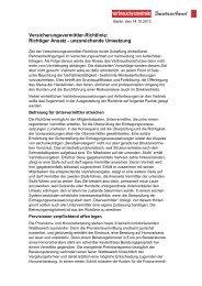 Versicherungsvermittler-Richtlinie: Richtiger Ansatz ... - vzbv