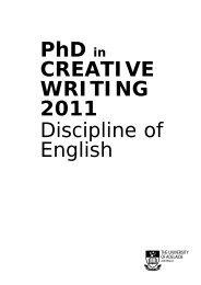 Creative writing handbooks - Faculty of Humanities & Social ...