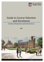 Guide to Course Selection and Enrolment - Faculty of Humanities ...