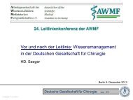 PDF-Version der Vortragsfolien - AWMF