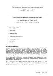 Rahmenvorgabe für die Anerkennung von Praxisnetzen nach § 87b ...