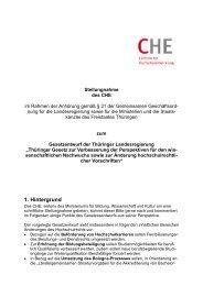 CHE Stellungnahme Thueringen Juli 2013.pdf - Centrum für ...