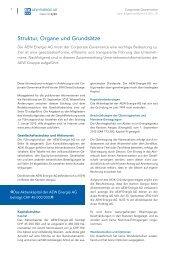 Struktur, Organe und Grundsätze - AEW Energie AG