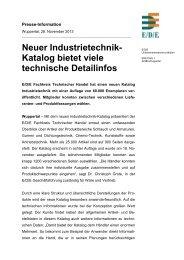 Neuer Industrietechnik- Katalog bietet viele technische Detailinfos