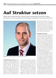 Auf Struktur setzen - Allianz Global Investors