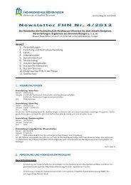 Newsletter FHN Nr. 4/2013 - Fachhochschule Nordhausen
