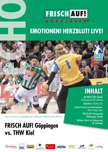 Echo Heft Nr. 6, FRISCH AUF! Göppingen - THW Kiel