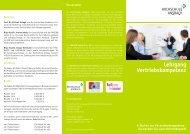 Flyer Lehrgang Vertriebskompetenz - Hochschule Ansbach