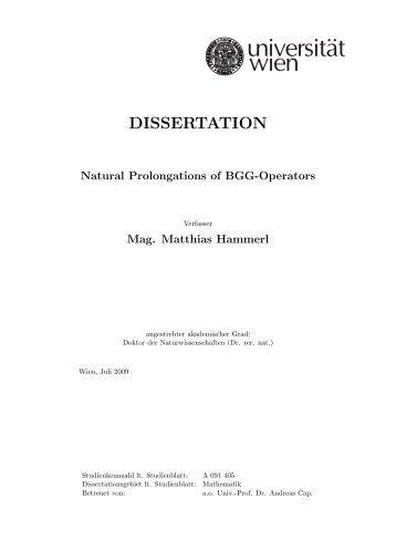 dissertation uni hgw
