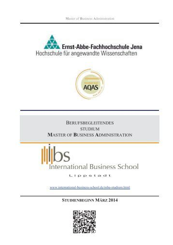 Fernstudium master of business administration mba iubh for Berufsbegleitendes studium