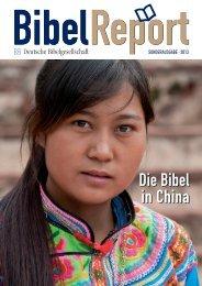 den aktuellen BibelReport lesen - Deutsche Bibelgesellschaft