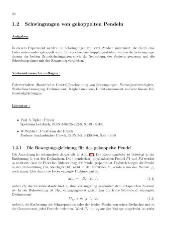 Versuch 19 - I. Physikalisches Institut B
