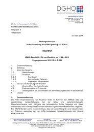 Pixantron DGHO Stellungnahme