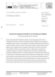 Konzept zum Vorgehen der Fakultät 11 zur Vermeidung von Plagiaten