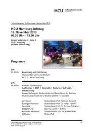 HCU Hamburg Infotag