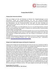Europa Aktuell 4/2013 - Österreichischer Gemeindebund