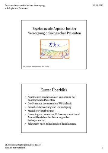 Psychosoziale Aspekte bei der Versorgung ... - Heilberufe