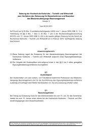 Satzung der Hochschule Karlsruhe – Technik und Wirtschaft zum ...