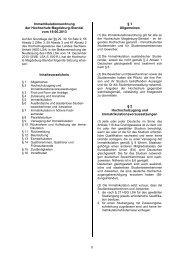 Immatrikulationsordnung der Hochschule Magdeburg-Stendal vom ...