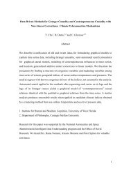 Data Driven Methods for Granger Causality and Contemporaneous