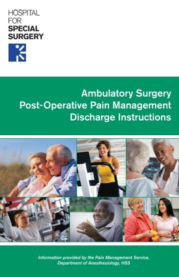 Ambulatory Surgery Post-Operative Pain Management Discharge ...