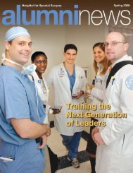 Alumni News (Spring 2008) - Hospital for Special Surgery