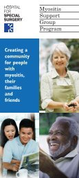 Myositis Support Group Program - Hospital for Special Surgery