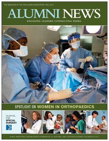 spotlight on women in orthopaedics - Hospital for Special Surgery
