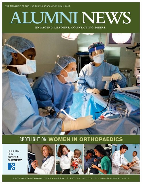 spotlight on women in orthopaedics - Hospital for Special