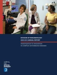 Division of Rheumatology's 2009-2010 Annual Report - Hospital for ...