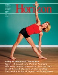 s Caring for Patients with Osteoarthritis - Hospital for Special Surgery