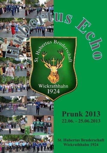 Hubertusecho 2013 - St. Hubertus Bruderschaft Wickrathhahn eV