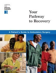 Your Pathway to Recovery - Hospital for Special Surgery