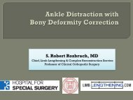 Ankle Distraction with Bony Deformity Correction