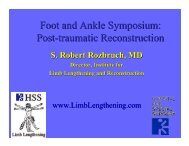 Post-Traumatic Reconstruction of the Foot and Ankle