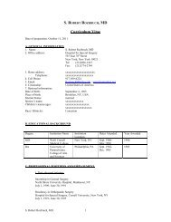 Curriculum Vitae - Hospital for Special Surgery