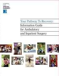 Ambulatory Inpatient Surgery - Hospital for Special Surgery