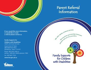 Family Supports for Children with Disabilities - Referral Information