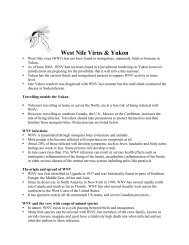 West Nile Virus & Yukon
