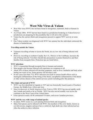 West Nile Virus & Yukon