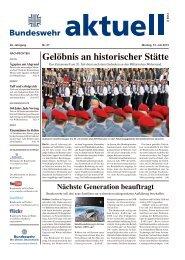 Gelöbnis an historischer Stätte - Bundeswehr