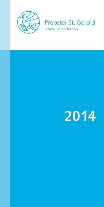 Programm 2014 (.pdf) - Propstei St.Gerold