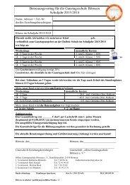 Verbindliche Anmeldung zum Ganztagsangebot
