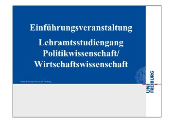 Einführungsveranstaltung Lehramtsstudiengang Politikwissenschaft ...