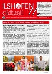 Ausgabe 11/2013 - Gewerbeverein Ilshofen eV / Startseite