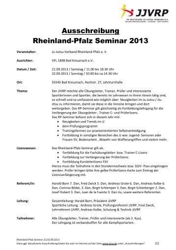 Ausschreibung Rheinland-Pfalz Seminar 2013 - Ju-Jutsu-Verband ...